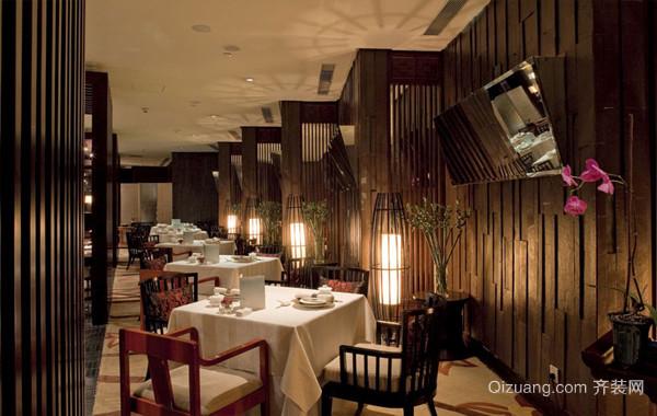 修生养性:中式大型餐馆装修设计效果图