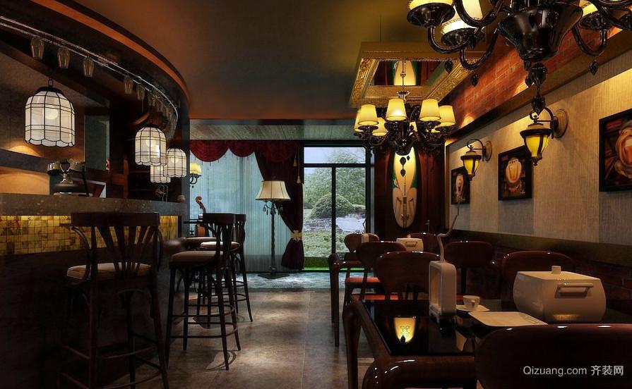 99平米特色古典小酒吧装修效果图