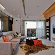 小户型客厅个性地毯欣赏