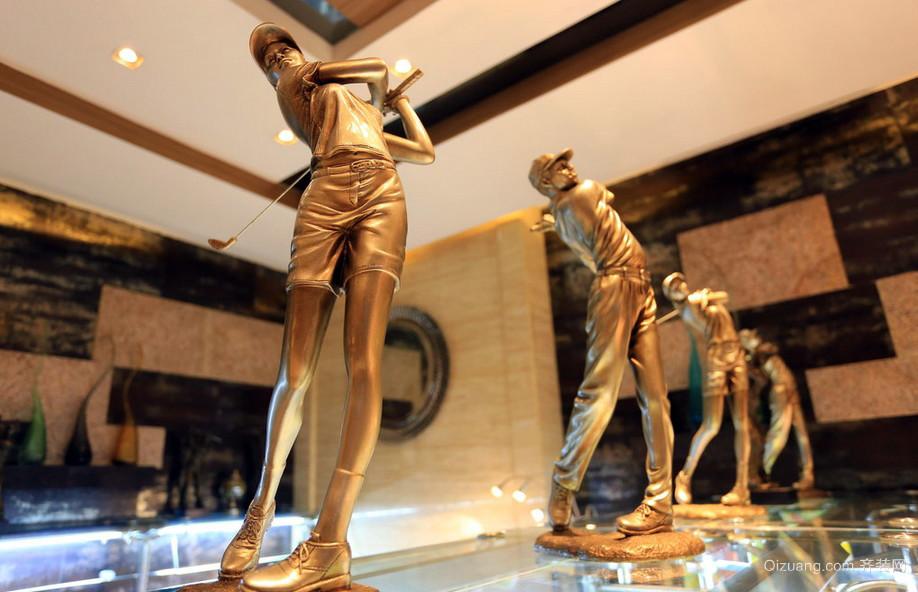 现代高尔夫私人会所展示柜装修图