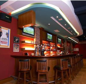 大型都市混搭风格酒吧吧台装修设计图