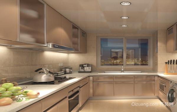 2016单身公寓简约现代小厨房效果图