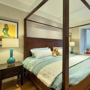 小户型美式卧室图片