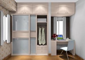 20平米朴素小卧室组合大衣柜效果图