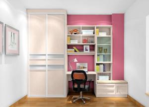 雅致实用:小女孩卧室精致组合大衣柜效果图