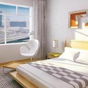 74平米单身公寓简约榻榻米卧室设计图