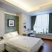 素雅清新卧室窗帘装饰