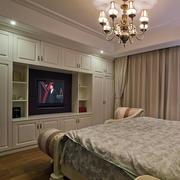 复式楼简欧大卧室组合大衣柜效果图