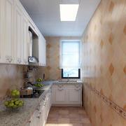 L字型小厨房展示