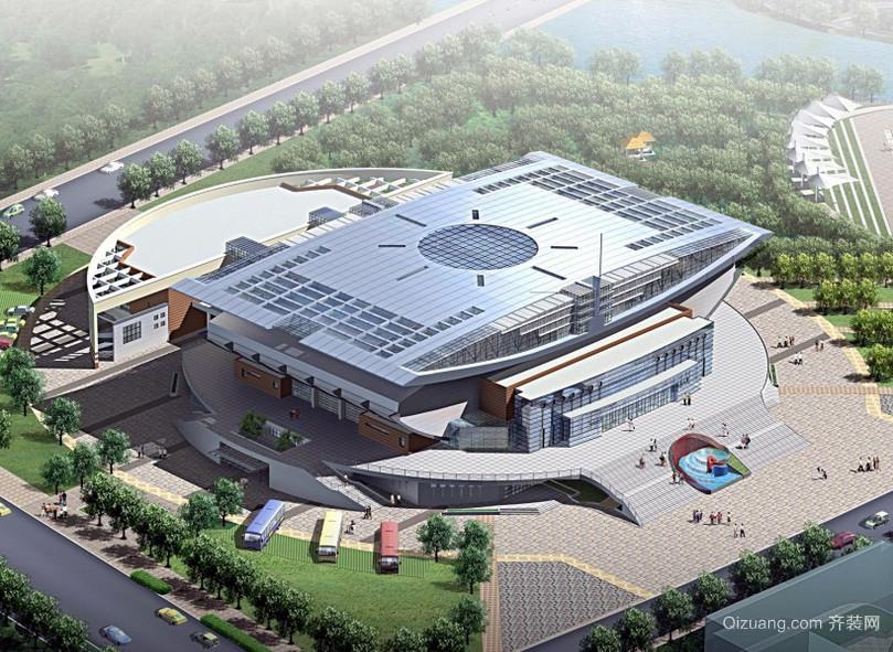 宏伟壮丽的国家体育馆简约设计效果图