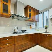 小户型厨房实木橱柜