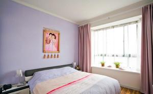 美观大气144平米现代卧室飘窗窗帘效果图
