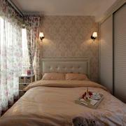 卧室小碎花窗帘设计