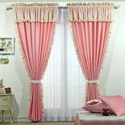 粉色窗帘装饰欣赏
