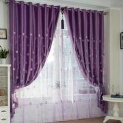 紫色浪漫窗帘展示