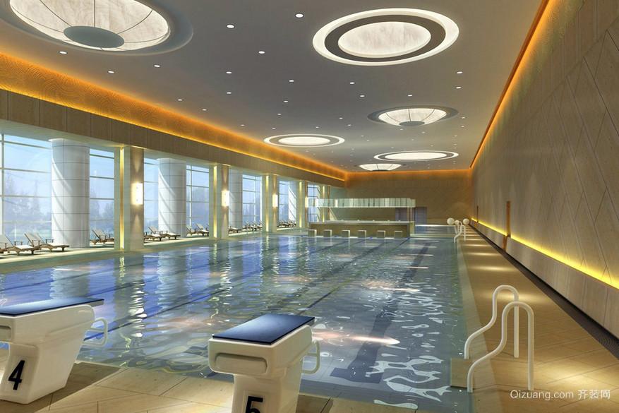 豪华大型休闲体育馆游泳池现代设计效果图