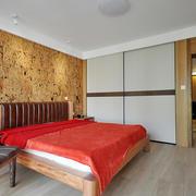 小户型卧室床头个性背景墙