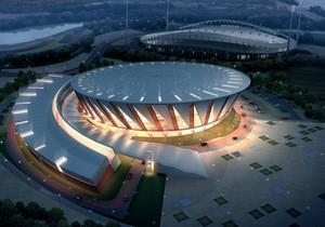 魅惑夜晚:大型体育馆灯光设计效果图
