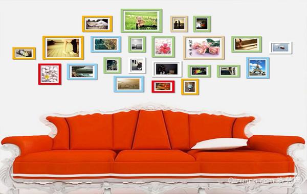 都市大户型人家个性照片墙设计效果图