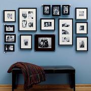 黑白色调照片墙欣赏