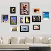 现代化的照片墙展示