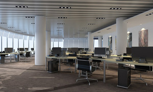 2016严肃又时尚的现代办公室桌椅装修图