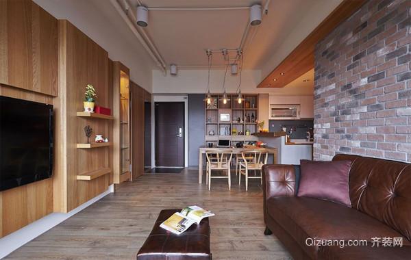 专属情境:两居室简约复古室内装饰设计图