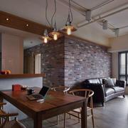 室内沙发背景复古砖