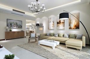 心素如简:现代简约两室一厅房屋装修图
