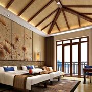酒店东南亚风格客房