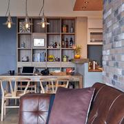 室内餐厅实木置物柜
