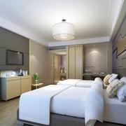 酒店双人标准间客房