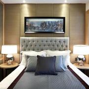 房屋卧室床头台灯展示
