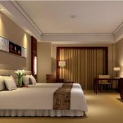 酒店暖色调客房欣赏