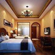 酒店简美式客房展示