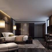 酒店新中式客房展示