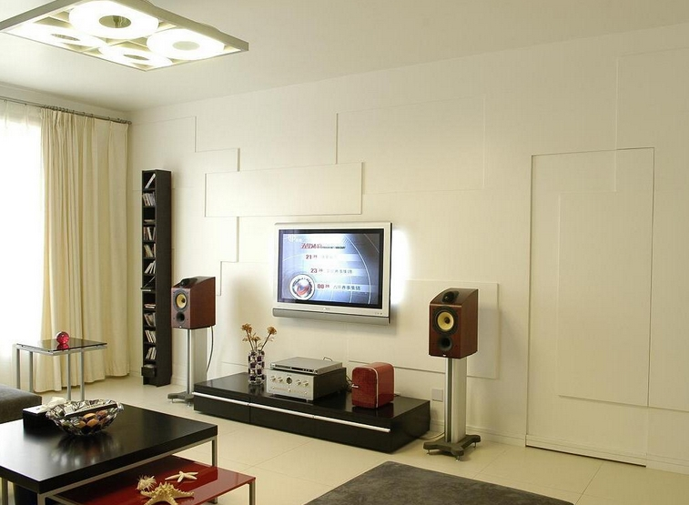 隐形门电视背景墙设计好看吗?