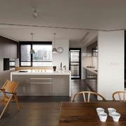 房屋开放式厨房展示