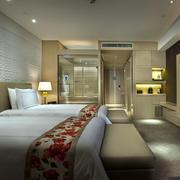酒店浅色调客房欣赏