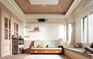 休闲慢活:122平原木风室内装修装饰设计图