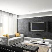 客厅深色系液体壁纸展示
