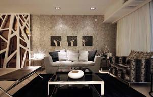 一个人也精彩,单身公寓现代客厅装修图