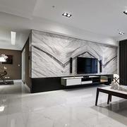 后现代瓷砖个性电视墙