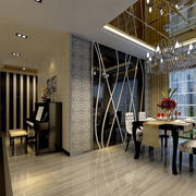 后现代餐厅玻璃吊顶