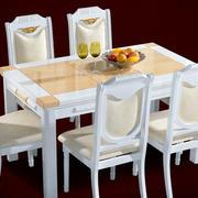 小居亮点:103平米简欧餐厅大理石餐桌图片