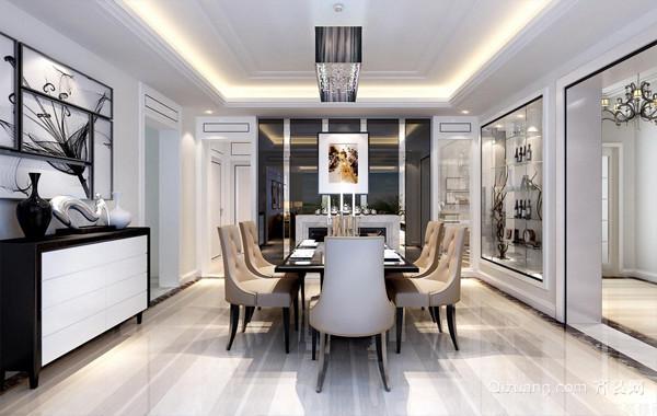 打造低调豪华的后现代风格大户型餐厅
