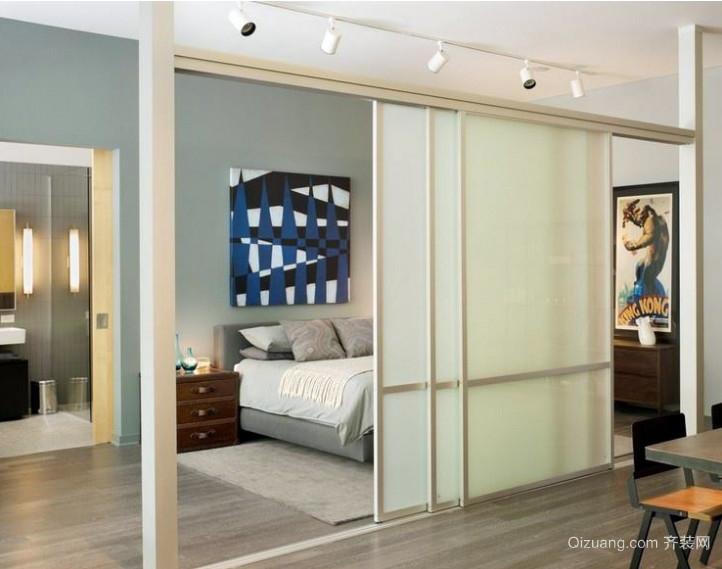 开心就好!打造简约卧室活动隔断设计