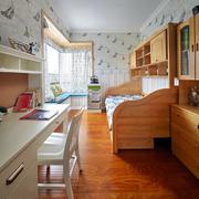 室内儿童房实木床展示