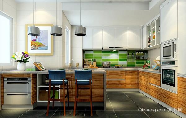 实用主义大户型家居开放式厨房装修效果图
