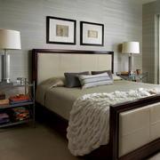 室内卧室精致床展示